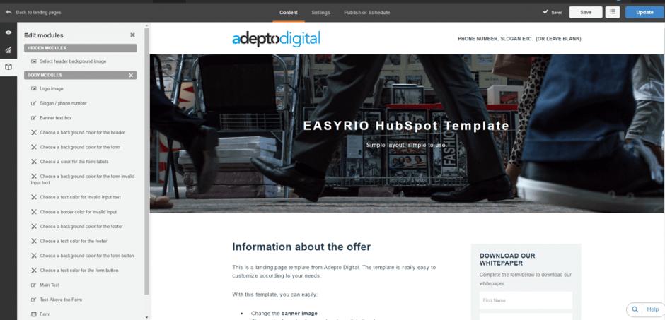 Easyrio HubSpot Template